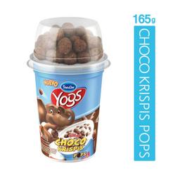 Yogur Yogs Entero Con Bolitas Sabor Chocolate 165 g