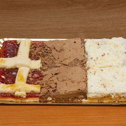 Cuadrado de Brownie, Coco & Pastafrola X 6