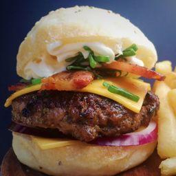 Cheddar Burger Doble