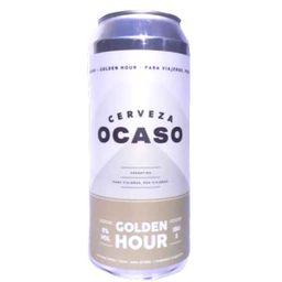 Cerveza Ocaso Golden Hour Lata 473ml