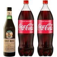 Fernet Branca 750 ml y 2 Coca-cola 2.25 L