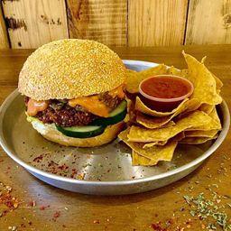 Combo Burger Big American & Nachos