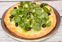 Pizza con Albahaca
