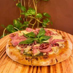 Pizza Margherita con Jamon