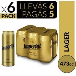 Imperial 473 ml Six Pack, Llevás 6 Pagás 5
