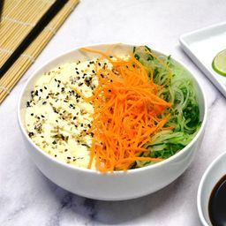 Chirashi Salad Veggie Zanahoria, Pepino y Phila