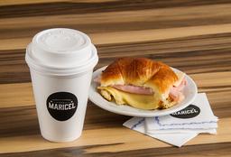 Combo Café con Leche Mediano + Croissant