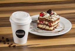 Combo - Café con Leche + Porción de Torta