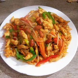 Pollo con Almendras & Verduras