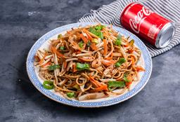 Chao Mien , Tofu , 2 Arrolladitos , Salsa