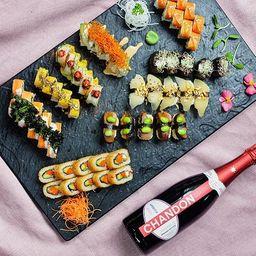 Combo 1 (45 Piezas de Sushi + Espumante)
