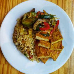 Equilibrado de Tofu Marinado