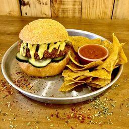 Combo Burger Gran Hindú & Nachos