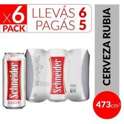 Schneider 473 ml Six Pack , Llevás 6 Pagás 5