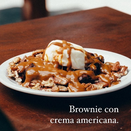 Brownie con Crema Americana