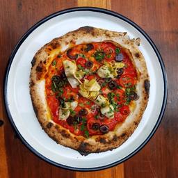 Pizza la Verde & Roja Vegana