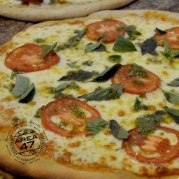 Pizza Napolitana con Albahaca
