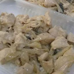 Cazuela de pollo con hongos