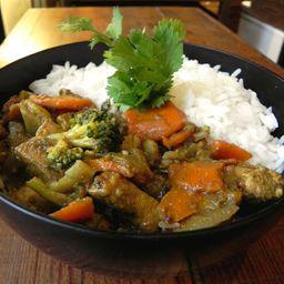 Curry Thai de Pollo