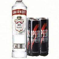 1 Smirnoff 750 ml y 3 Speed 250 ml