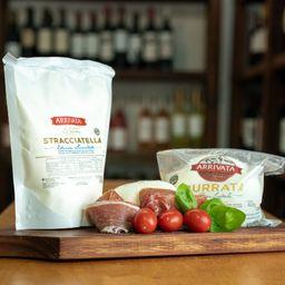 Tabla de Burrata + 2 Stellas de 473ml