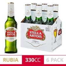 Stella Artois Rubia 330 ml X 6 Unidades