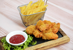 Fish & Chips Langostinos