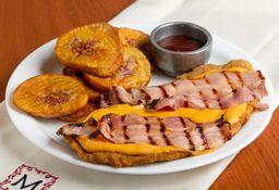 Milanesa Americana y Boniato Frito