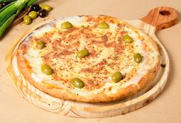 Pizza de Mozzarella con Albahaca