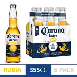 Six Pack Cerveza Corona 355ml