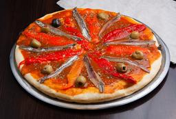 Pizza Anchoas con Jamón o Morrón