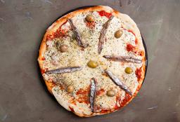 Pizza de Mozzarella con Anchoas
