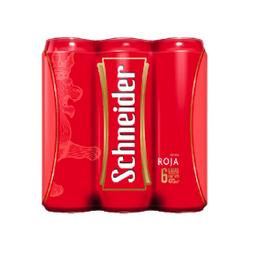 Six Pack Cerveza Schneider Roja Lata 473ml