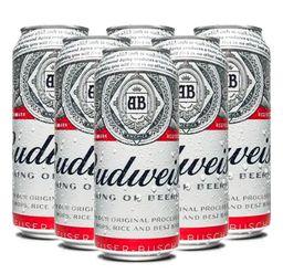 Six Pack Cerveza Budweiser Lata 473ml