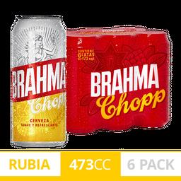 Six Pack Brahma Lata 473ml Cerveza