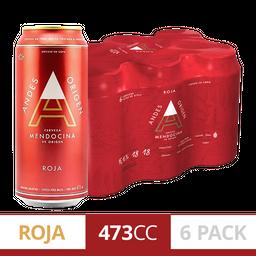 6 Und. Cerveza Andes Roja 473 Cc