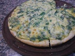 Pizza Individual Integral con Espinaca