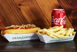 Combo Classic Hot Dog, Papas & Bebida