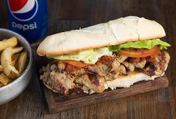 Sándwich de Bondiola + Guarnición + Bebida