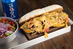 Sándwich de Phylly Cheese + Guarnición + Bebida