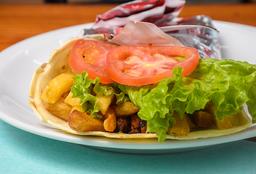 Topo Shawarma + Fritas Bebida