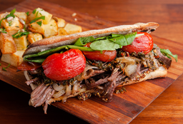 Slim organic meat sandwich
