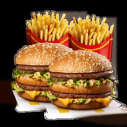 2 Sandwich Big Mac y 2 Papas grandes