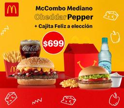 McCombo mediano Cheddar Pepper y Cajita Feliz