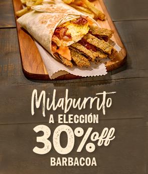Barbacoa Palermo - 30%Off en Milaburrito
