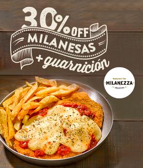 Restaurantes - Milanezza - 30% en Milanesas