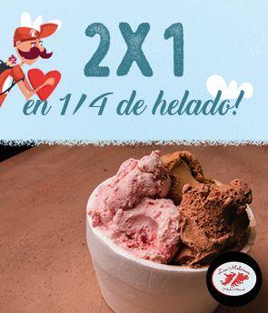 Heladeria Las Malvinas 2x1 San Valentin