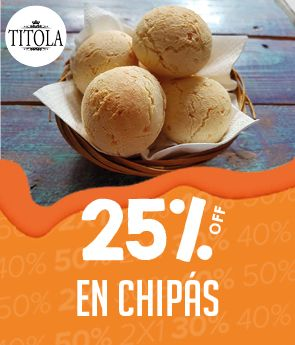 - 25% OFF en chipá