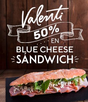 50% OFF en Blue cheese sándwich