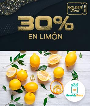 CPGS - MANDALE FRUTA - GOLDEN TICKET - 30% OFF EN LIMON